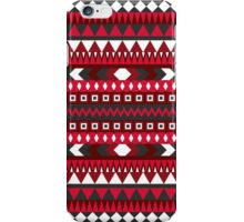RED AZTEC PATTERN iPhone Case/Skin