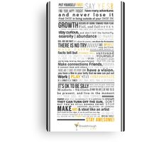 Breakthrough Cocktail Living Creed 1.0 Canvas Print