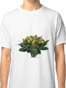 Yellow flower bouquet On white background  Classic T-Shirt
