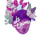 Je T'aime Botanical Print by TabithaBianca