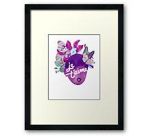 Je T'aime Botanical Print Framed Print