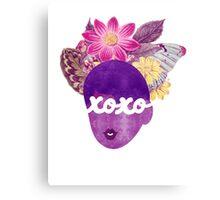 XOXO Typography Art Print Canvas Print