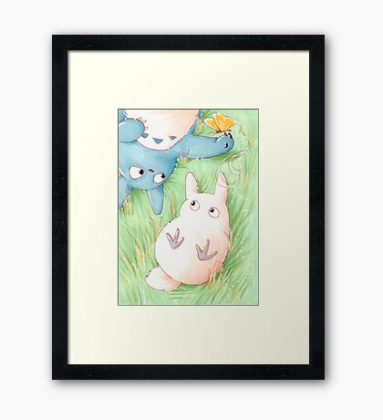Totoro Lazy Day ! [UltraHD] Framed Print
