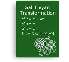 Gallifreyan Transformation 2 Canvas Print