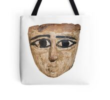 An Egyptian wooden mask 1st Millennium BC Tote Bag