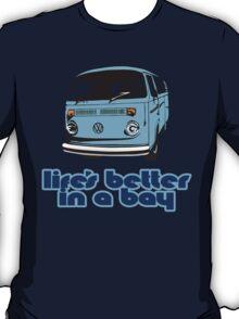 Volkswagen Kombi Tee shirt - Life's Better in a Bay -Blue T-Shirt