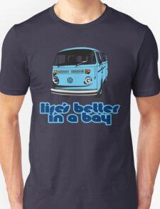 Volkswagen Kombi Tee shirt - Life's Better in a Bay -Blue Unisex T-Shirt
