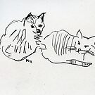 Sketched Cats 4 by Gabriele Maurus