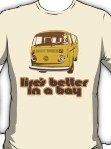Volkswagen Kombi Tee shirt - Life's Better in a Bay - Yellow T-Shirt