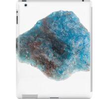 Cutout of a blue apatite gemstone on white background iPad Case/Skin
