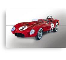 1958 Ferrari 250GT Testa Rossa V 'Studio' Canvas Print