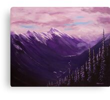 View From Sulphur Mountain Canvas Print