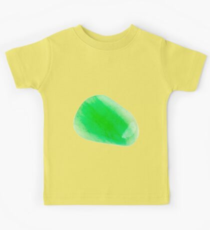 Cutout of a aventurine gemstone on white background Kids Tee