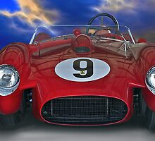 1958 Ferrari 250GT Testa Rossa I 'Head On' by DaveKoontz
