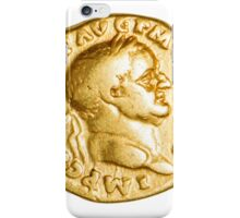 The Emperor and Nike. Roman gold coin  iPhone Case/Skin