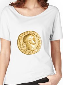 The Emperor and Nike. Roman gold coin  Women's Relaxed Fit T-Shirt