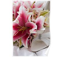 Wedding Flowers & Brides Shoe Poster