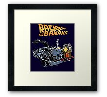 Back To The Banana Framed Print