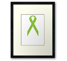 Lymphoma Awareness ribbon Framed Print