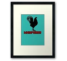 Cock (rooster) whisperer Framed Print