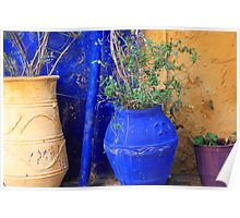 Flower Pots, Greek Style Poster