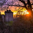 Sunset over Castle Campbell by 242Digital