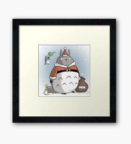 My Totoro Christmas ! [UltraHD] Framed Print