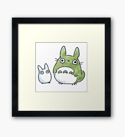 My Totoro Artwork ! Framed Print