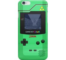 Gameboy Color Zelda Triforce Logo iPhone Case/Skin