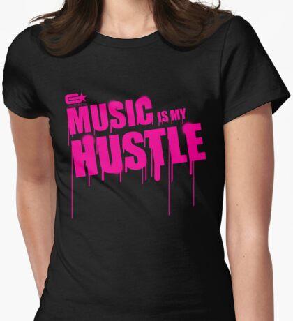 ghettostar music hustle PINK Womens Fitted T-Shirt