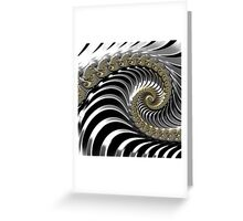 SILVER FRACTAL , 3D, heavy metal SKINS, GIFTS, DECOR  Greeting Card