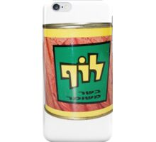 Cutout of a tin of Luf, Israeli Kosher SPAM  iPhone Case/Skin