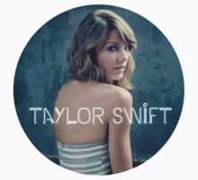 Taylor Swift painting blue background Kids Clothes