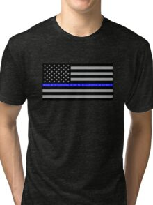 The Thin Blue Line Blessed Are the Peacemakers Tri-blend T-Shirt