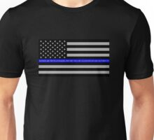 The Thin Blue Line Blessed Are the Peacemakers Unisex T-Shirt