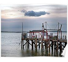 Fishing Wharf Evening Poster