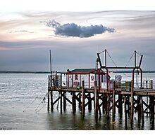 Fishing Wharf Evening Photographic Print