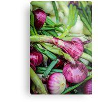 Farmers Market Red Onions Metal Print