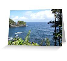 Hawaiian Ocean View Greeting Card