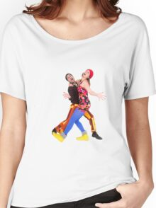 comic 70s style couple disco dancing  Women's Relaxed Fit T-Shirt