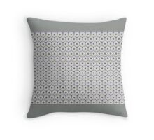 TINY FLOWERS GEOMETRIC, muted green and lavender  Throw Pillow