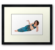 reclining Egyptian style Belly dancer hands stretched out Framed Print