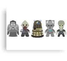 Doctor Who Monsters Canvas Print