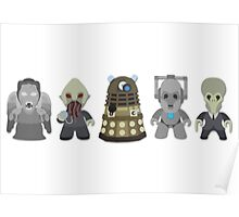 Doctor Who Monsters Poster