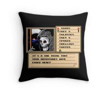 NES Grim Reaper Game Screen Throw Pillow
