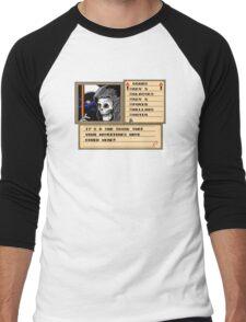 NES Grim Reaper Game Screen Men's Baseball ¾ T-Shirt