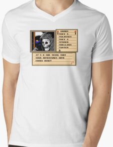NES Grim Reaper Game Screen Mens V-Neck T-Shirt