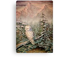 SNOWY OWL by SHARON SHARPE Canvas Print