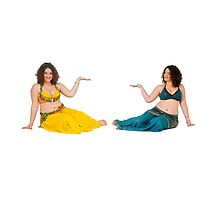 Belly dancer offers her hand On white Background by PhotoStock-Isra