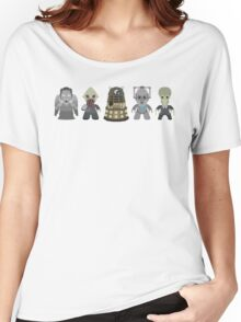 Doctor Who Monsters Women's Relaxed Fit T-Shirt